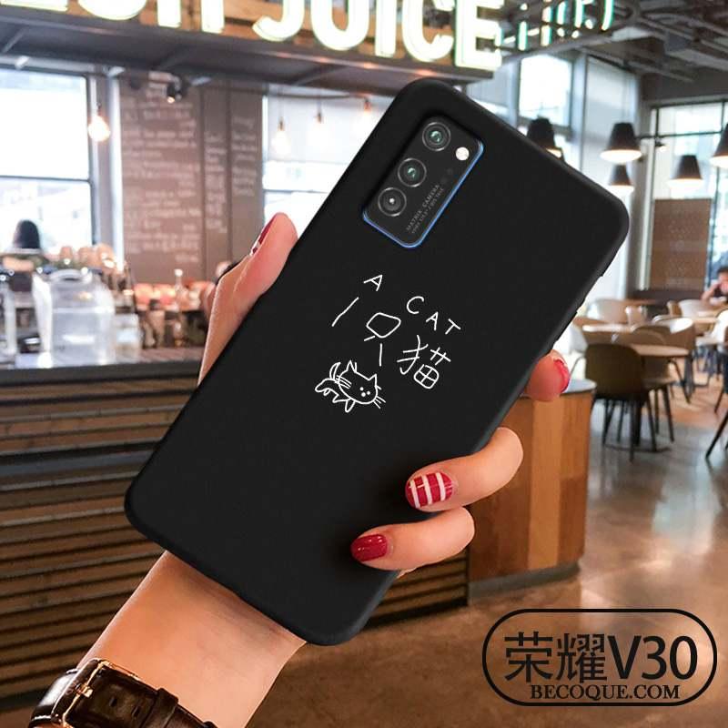 Honor View30 Coque De Téléphone Amoureux Personnalité Tout Compris Noir Simple