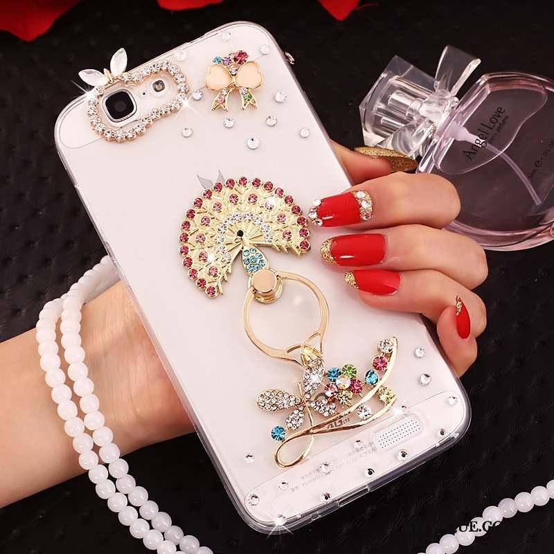 Huawei Ascend G7 Coque Protection Fluide Doux Strass Étui De Téléphone