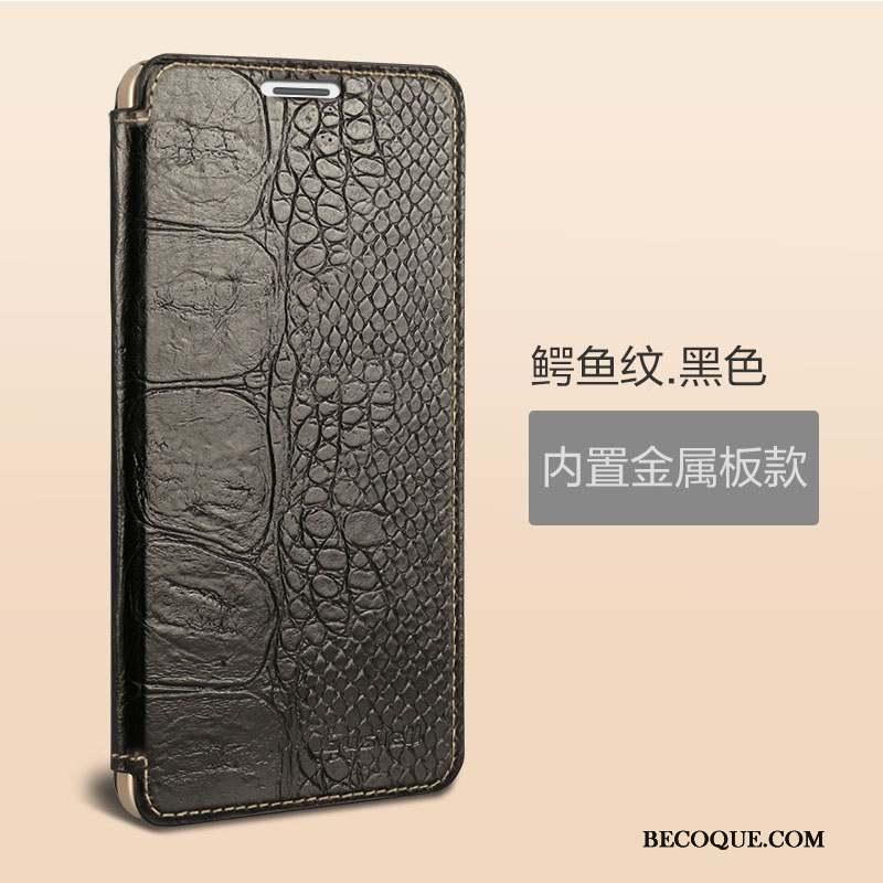 Huawei Ascend Mate 7 Protection Coque Étui Dormance Vin Rouge Cuir Véritable