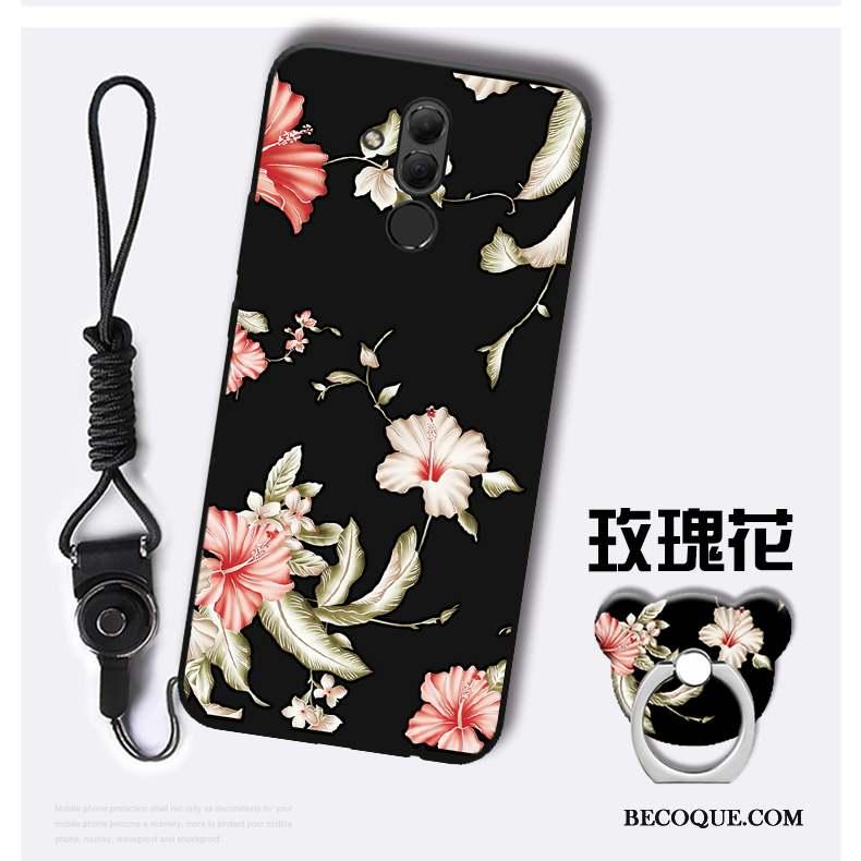Huawei Mate 20 Lite Fluide Doux Ornements Suspendus Coque De Téléphone Bleu Étui