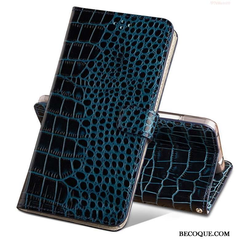 Huawei Mate 20 Pro Crocodile Coque De Téléphone Boucle Magnétique Housse Étui Protection