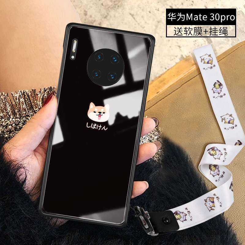 Huawei Mate 30 Pro Rouge Incassable Charmant Coque De Téléphone Verre Personnalité