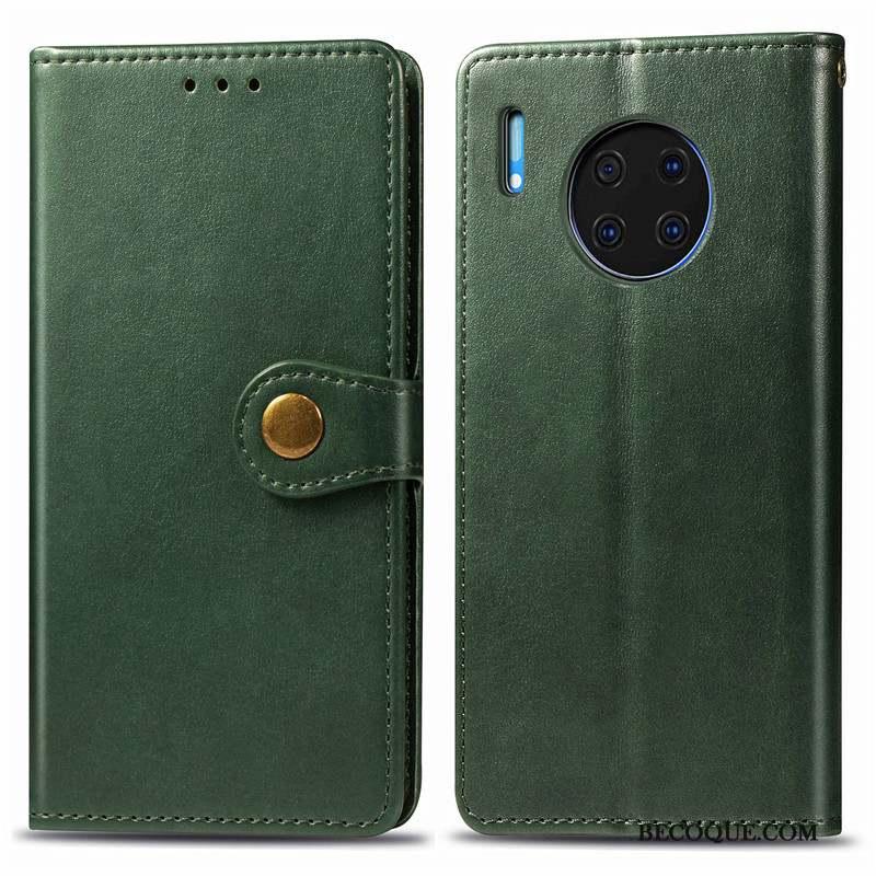 Huawei Mate 30 Rouge Ornements Suspendus Protection Business Couleur Unie Coque De Téléphone