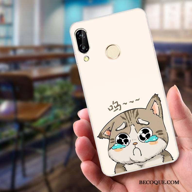 Huawei P Smart+ Coque De Téléphone Peinture Incassable Étui Gaufrage Dessin Animé