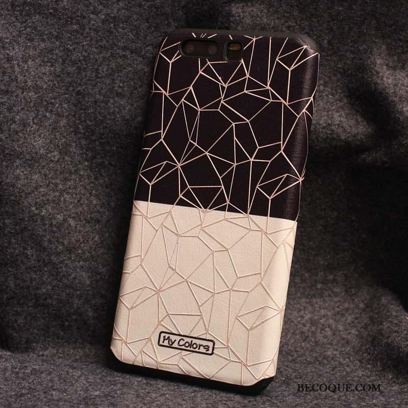 Huawei P10 Plus Coque Silicone Blanc Étui Tout Compris Créatif Tendance