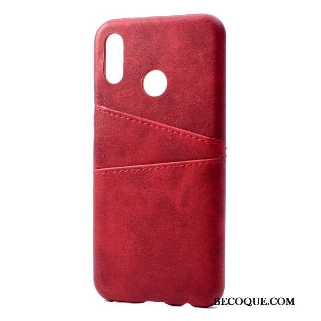 Huawei P20 Lite Coque Étui En Cuir Simple Couvercle Arrière Personnalité Protection Mode