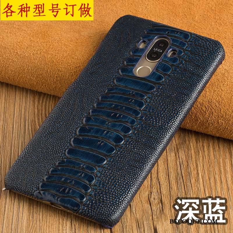 Huawei P8 Lite Cuir Véritable Nouveau Couvercle Arrière Rouge Étui En Cuir Coque