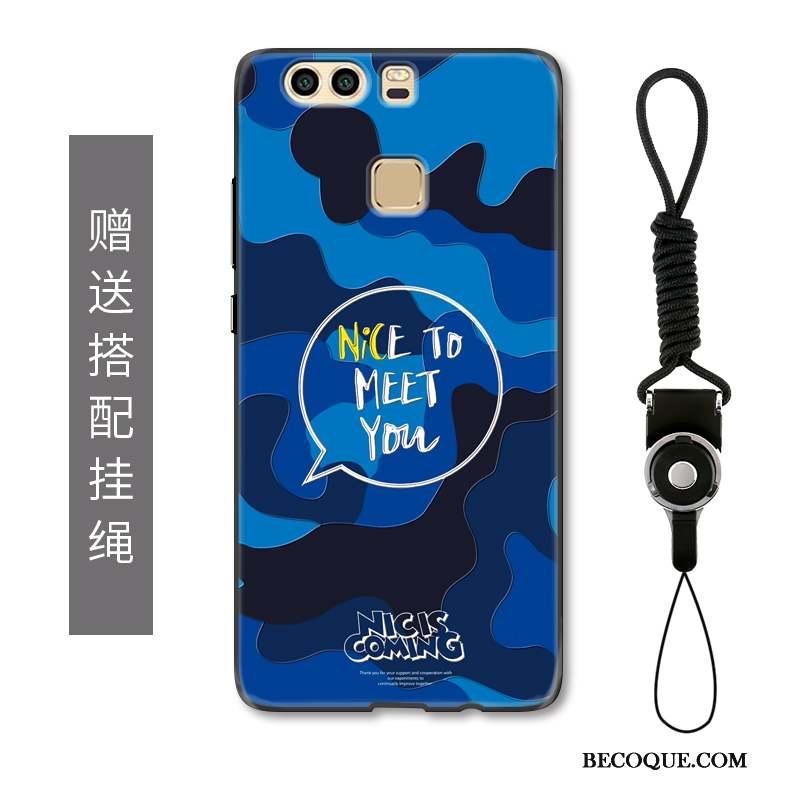 Huawei P9 Ornements Suspendus Protection Tendance Coque De Téléphone Gaufrage Délavé En Daim
