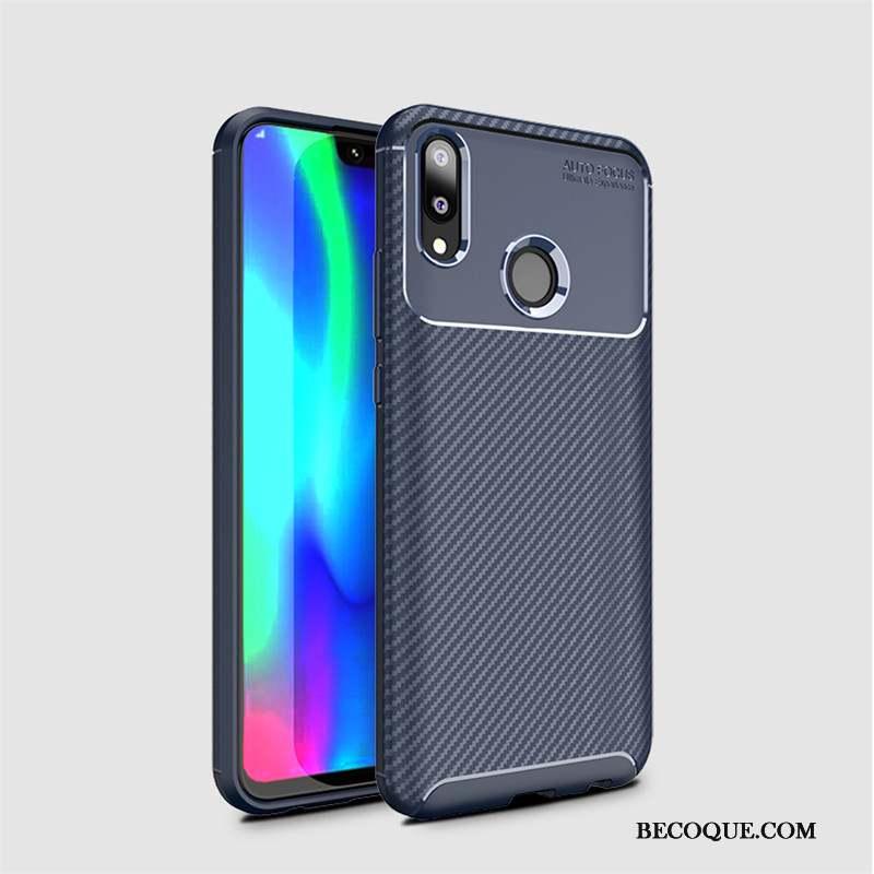 Huawei Y7 2019 Coque Jeunesse Fibre Protection Modèle Fleurie Étui Fluide Doux