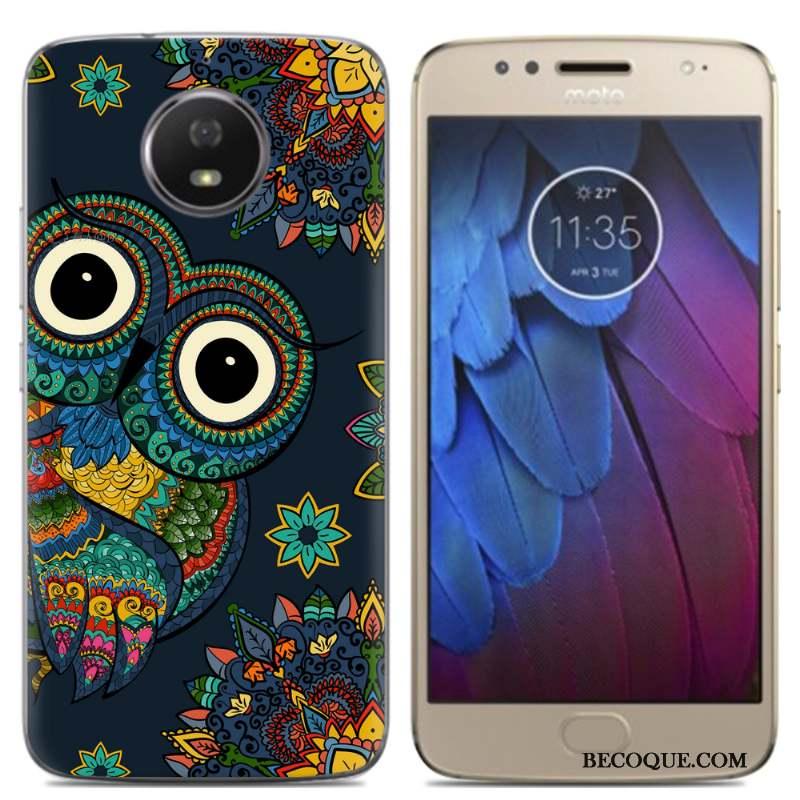 Moto G5 Fluide Doux Coque De Téléphone Téléphone Portable Protection Bleu Silicone