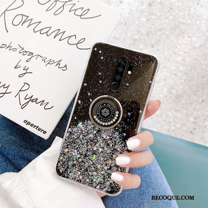 Redmi 9 Net Rouge Coque Support Flocon De Neige Marque De Tendance De Téléphone