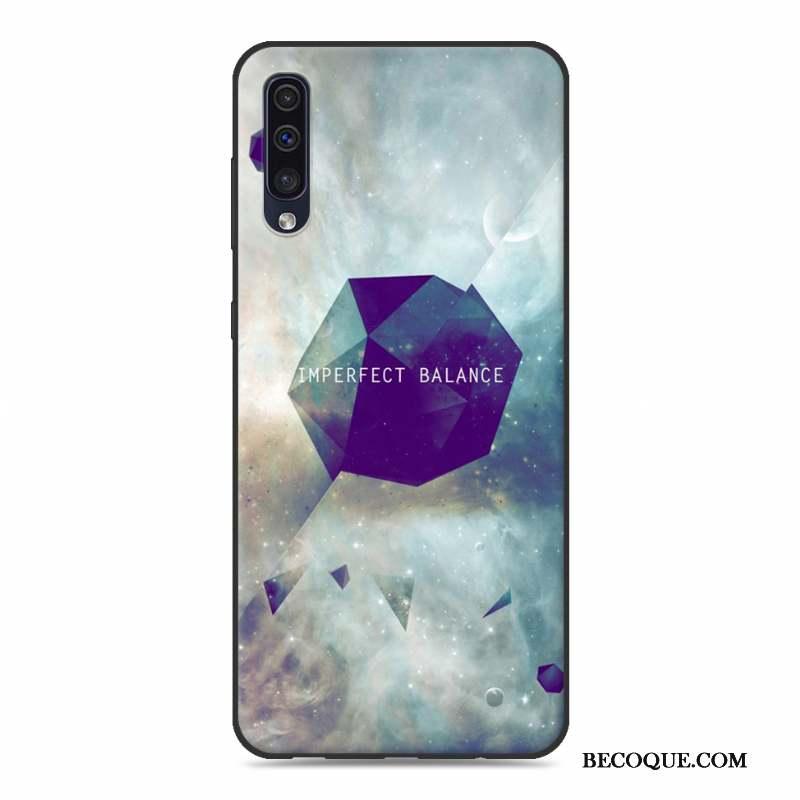 Samsung Galaxy A50 Incassable Dessin Animé Coque De Téléphone Bleu Téléphone Portable Personnalité