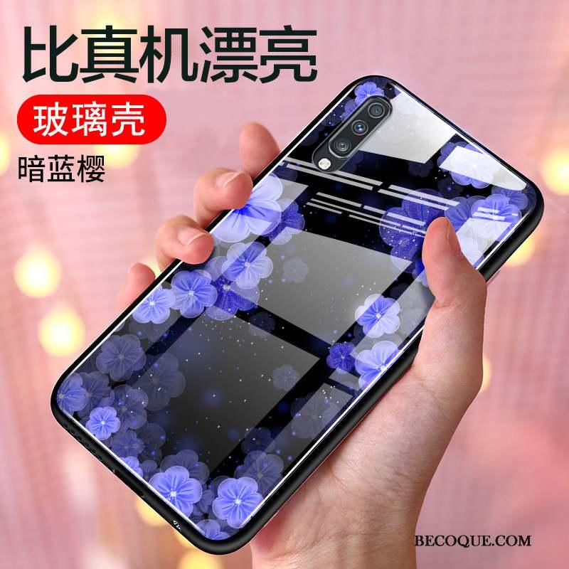 Samsung Galaxy A70 Coque Protection Silicone Bleu Étui Incassable Mode