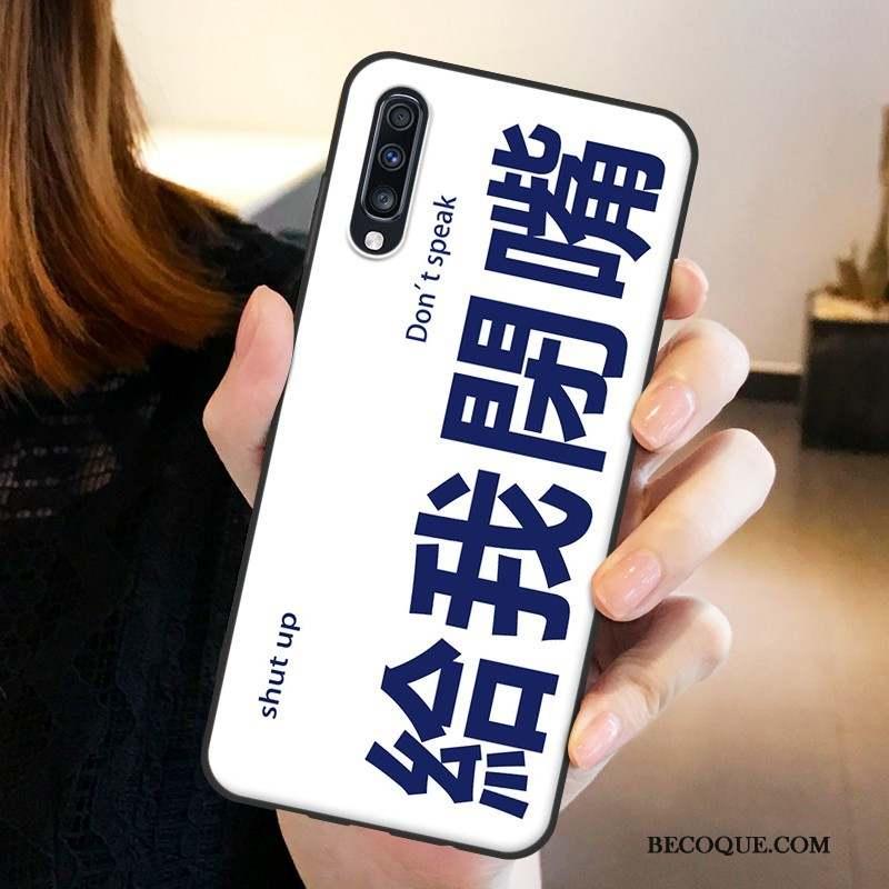 Samsung Galaxy A70 Créatif Protection Bleu Marin Étui Fluide Doux Coque