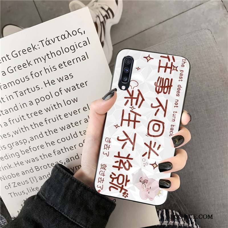 Samsung Galaxy A70s Créatif Coque Tendance Modèle Fleurie Losange Amoureux