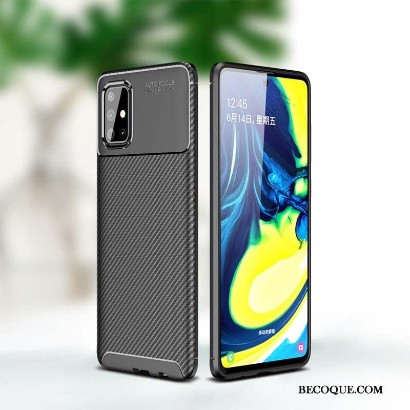 Samsung Galaxy A71 Coque Incassable Noir Protection Tout Compris Business Étui