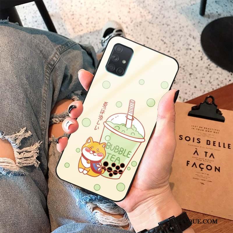 Samsung Galaxy A71 Coque Petit Frais Fluide Doux Personnalité Silicone Tout Compris
