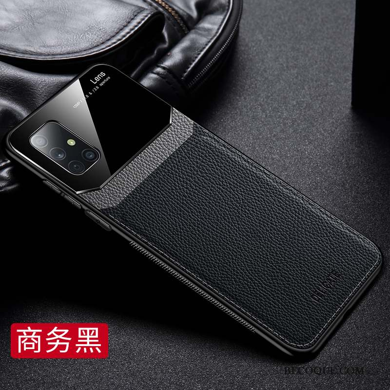Samsung Galaxy A71 Coque Silicone Marque De Tendance Cuir Personnalité Étui En Cuir Protection