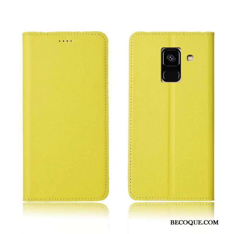 Samsung Galaxy A8 2018 Coque De Téléphone Étui Protection Étui En Cuir Téléphone Portable Cuir Véritable