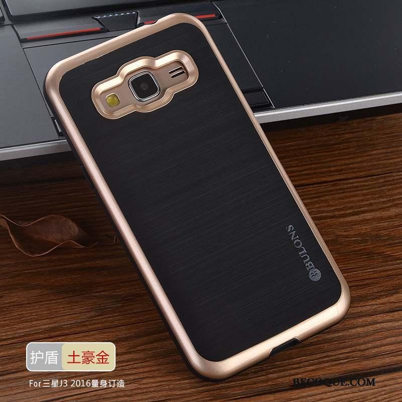 Samsung Galaxy J3 2016 Incassable Coque De Téléphone Tout Compris Personnalité Tissu Protection