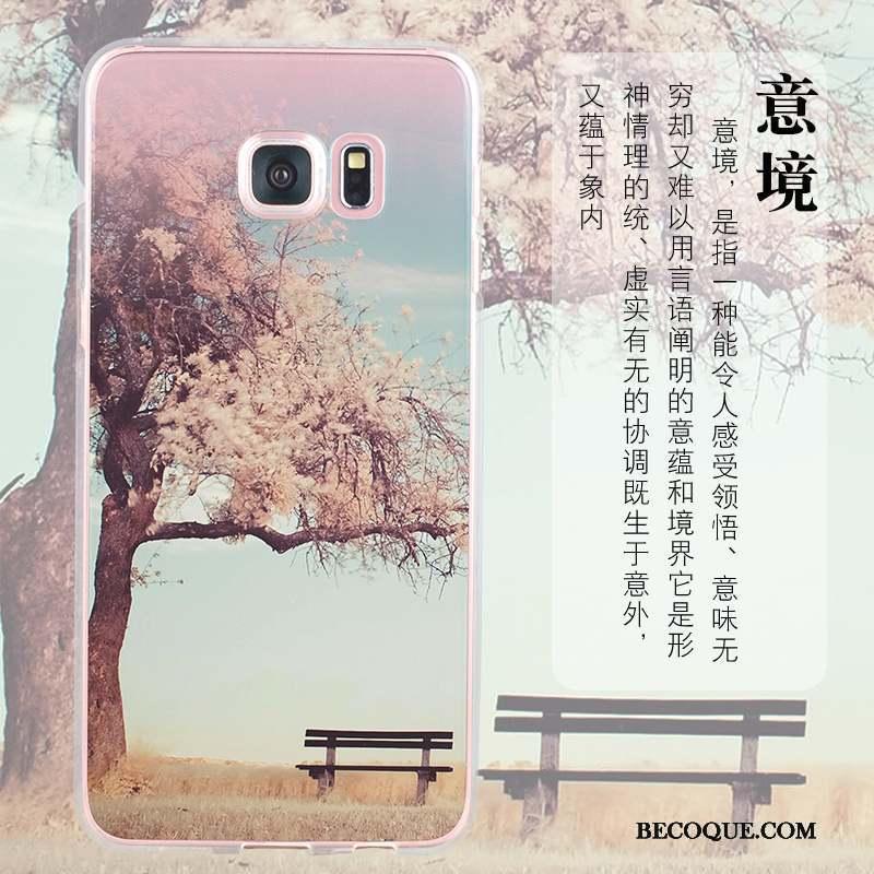 Samsung Galaxy S6 Edge Coque De Téléphone Rose Tout Compris Incassable Protection Étui