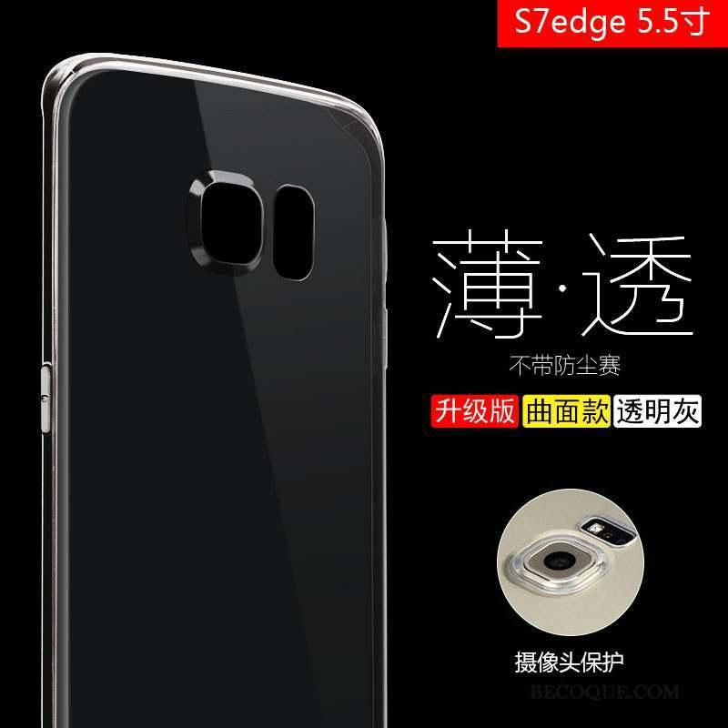 Samsung Galaxy S7 Edge Coque De Téléphone Bleu Étui Fluide Doux Protection Très Mince
