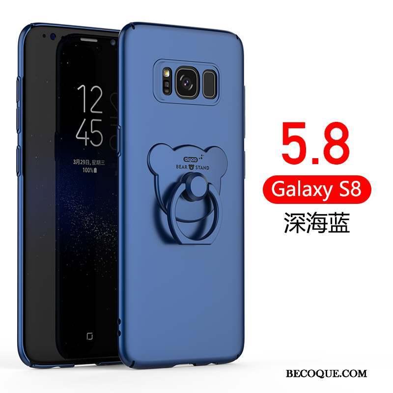 Samsung Galaxy S8 Incassable Coque De Téléphone Étui Délavé En Daim Anneau Très Mince