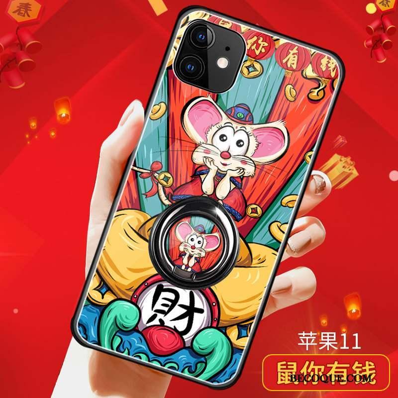 iPhone 11 Incassable Coque Nouveau Net Rouge Très Mince Verre