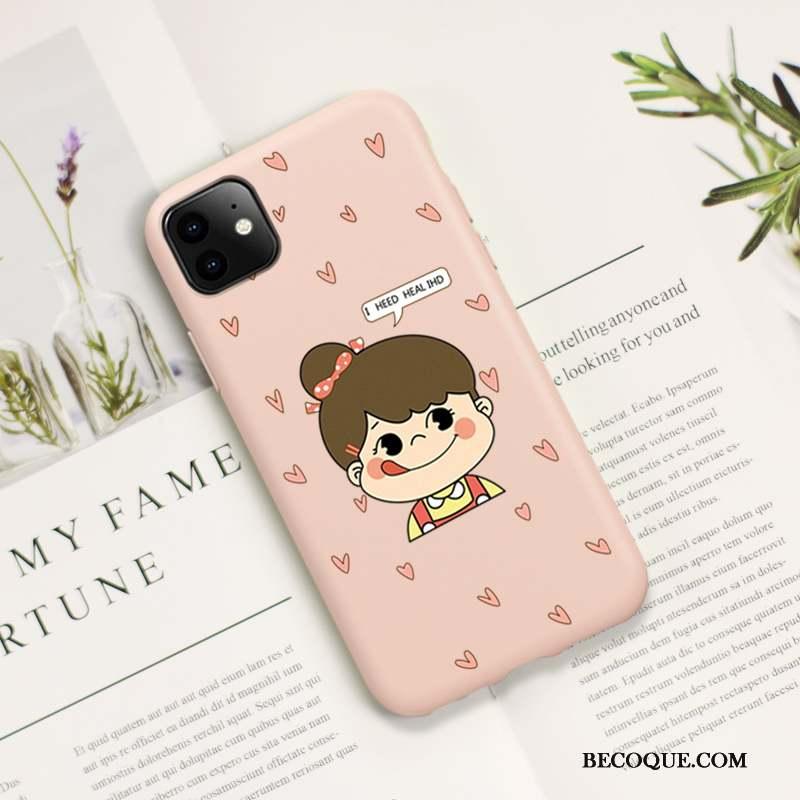 iPhone 11 Pro Délavé En Daim Tout Compris Protection Coque Personnalité Amoureux