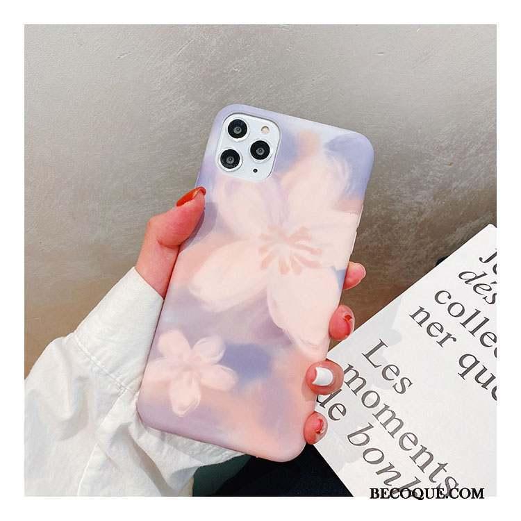 iPhone 11 Pro Max Coque Silicone Peinture À L'huile Incassable Art Fluide Doux Tout Compris