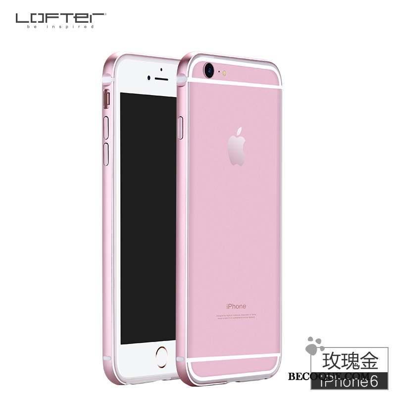 iPhone 6/6s Coque De Téléphone Rouge Or Border Métal Incassable