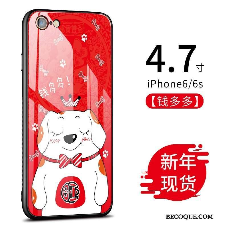 iPhone 6/6s Coque Dessin Animé De Téléphone Verre Difficile Incassable
