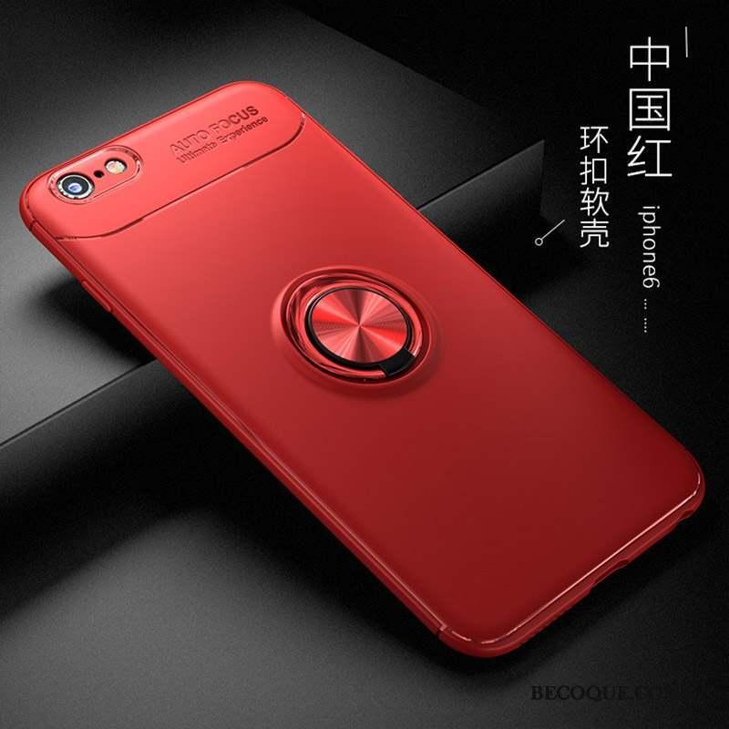 iPhone 6/6s Coque Incassable Étui Tendance Fluide Doux Noir Silicone