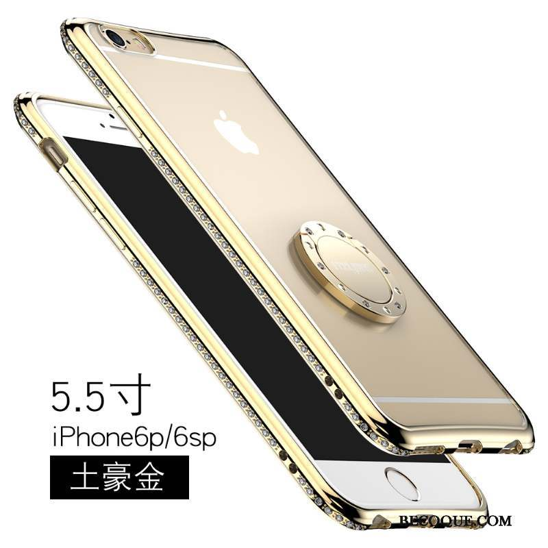 iPhone 6/6s Plus Étui Protection Strass Transparent Coque De Téléphone Support