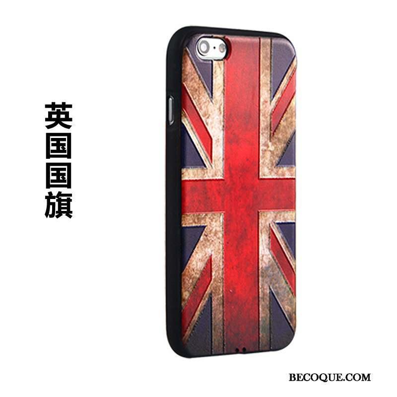 iPhone 6/6s Plus Coque Créatif Étui Gaufrage Bleu Tendance Protection