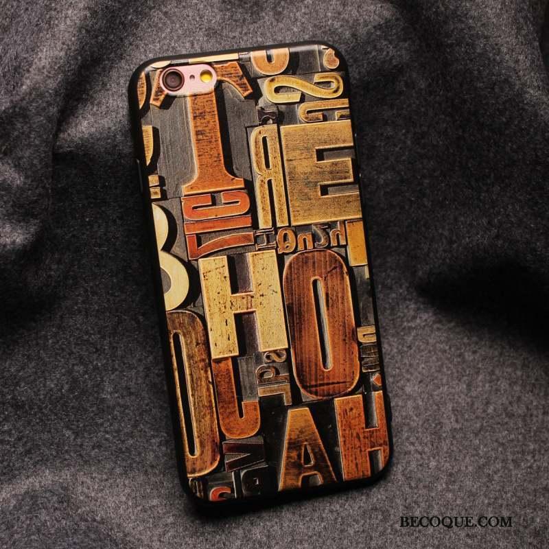 iPhone 6/6s Plus Protection Coque De Téléphone Personnalité Délavé En Daim Étui Jaune