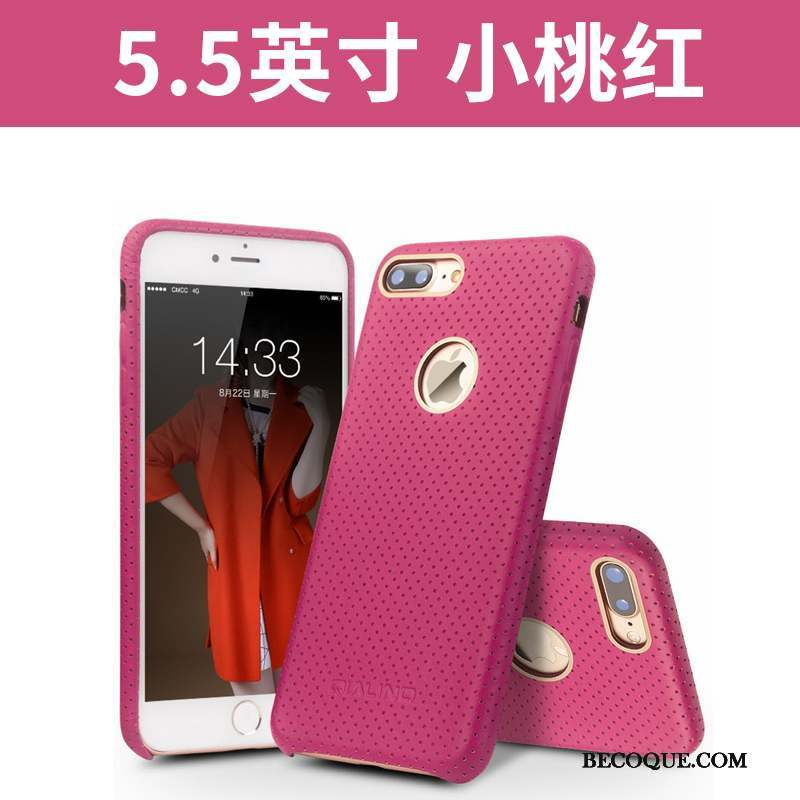 iPhone 7 Plus Noir Étui En Cuir Protection Téléphone Portable Coque De Téléphone Couvercle Arrière