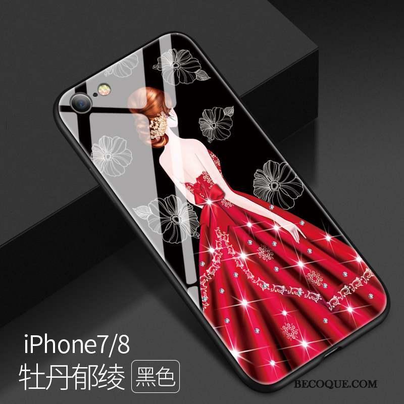 iPhone 8 Coque Personnalité Nouveau Tout Compris Créatif Verre Incassable