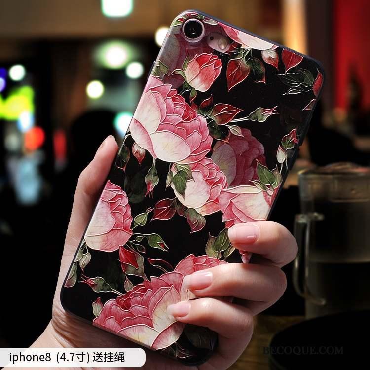 iPhone 8 Coque Silicone Tout Compris Créatif Nouveau Rouge Personnalité