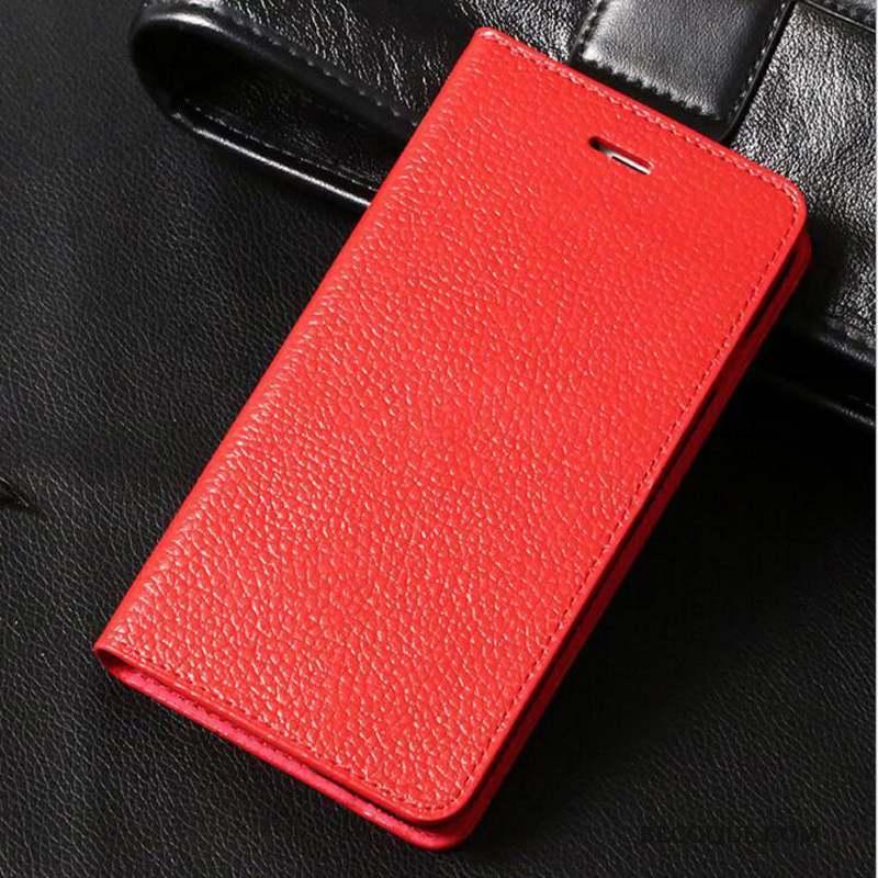 iPhone 8 Plus Incassable Étui En Cuir Coque De Téléphone Housse Protection Or