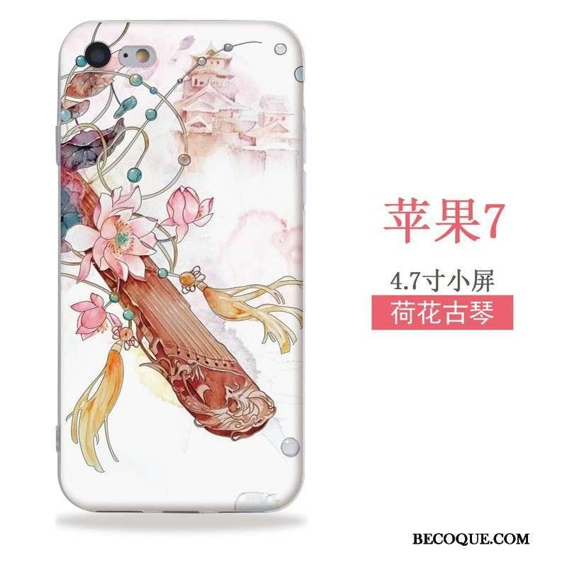 iPhone Se Coque Silicone Tout Compris Style Chinois Ornements Suspendus Fluide Doux Gaufrage
