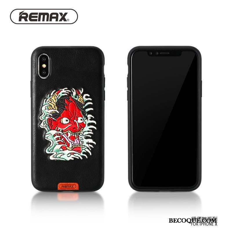 iPhone X Broderie Incassable Jaune Coque De Téléphone Nouveau Protection