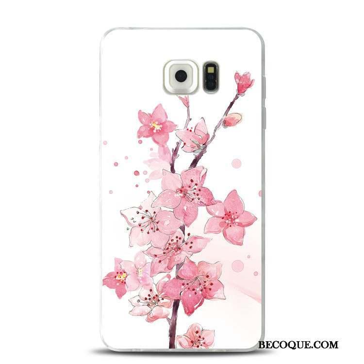 coque samsung s7 fleur silicone