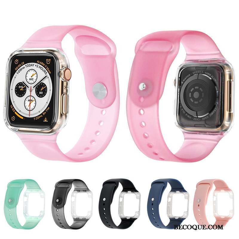 Apple Watch Series 1 Coque Sport Bicolore Silicone Étui Pu Protection