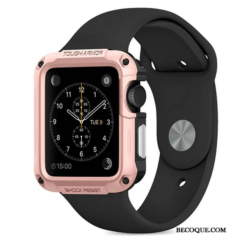Apple Watch Series 1 Protection Étui Outdoor Sport Or Rose Coque