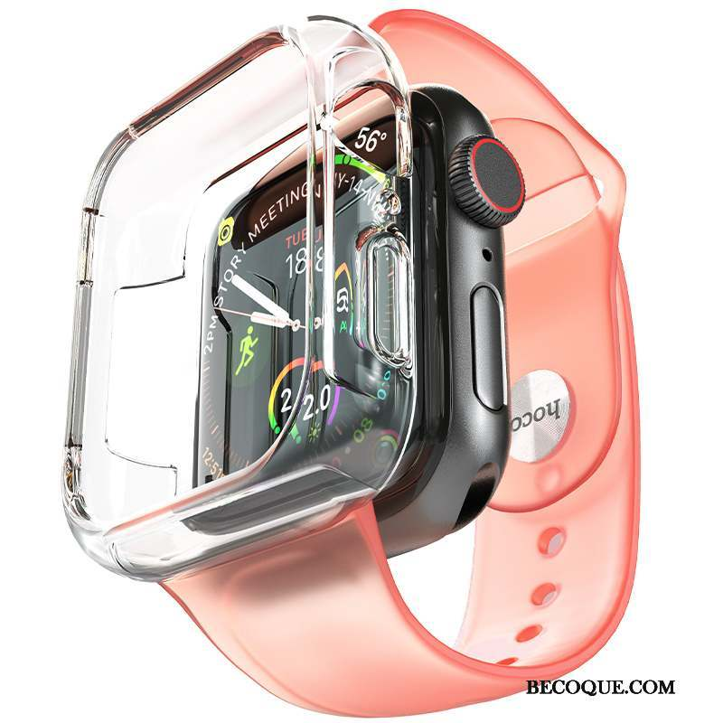 Apple Watch Series 3 Accessoires Rose Placage Tout Compris Coque Silicone