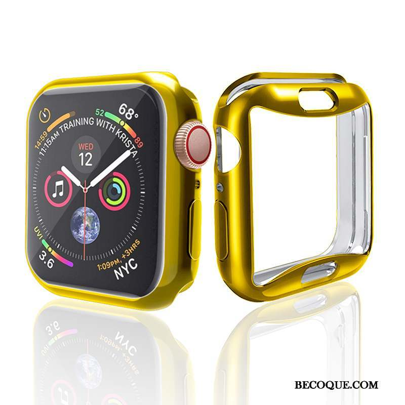 Apple Watch Series 3 Coque Protection Silicone Tendance Placage Accessoires Or