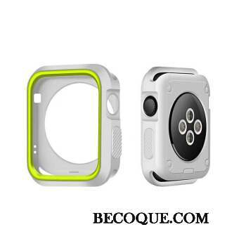 Apple Watch Series 3 Silicone Protection Vert Étui Blanc Coque
