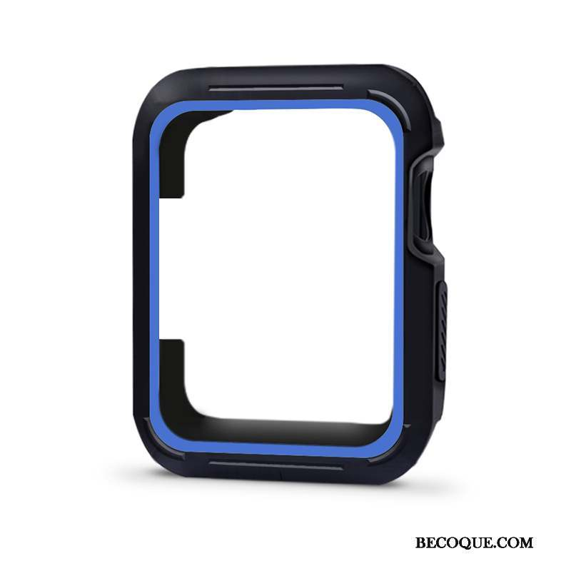 Apple Watch Series 4 Bleu Coque Bicolore Étui Silicone Protection