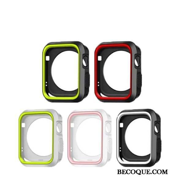 Apple Watch Series 4 Coque Fluide Doux Noir Étui